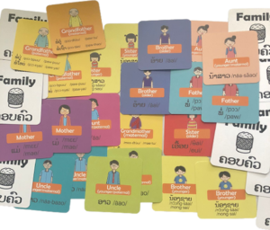 Lao family flash cards